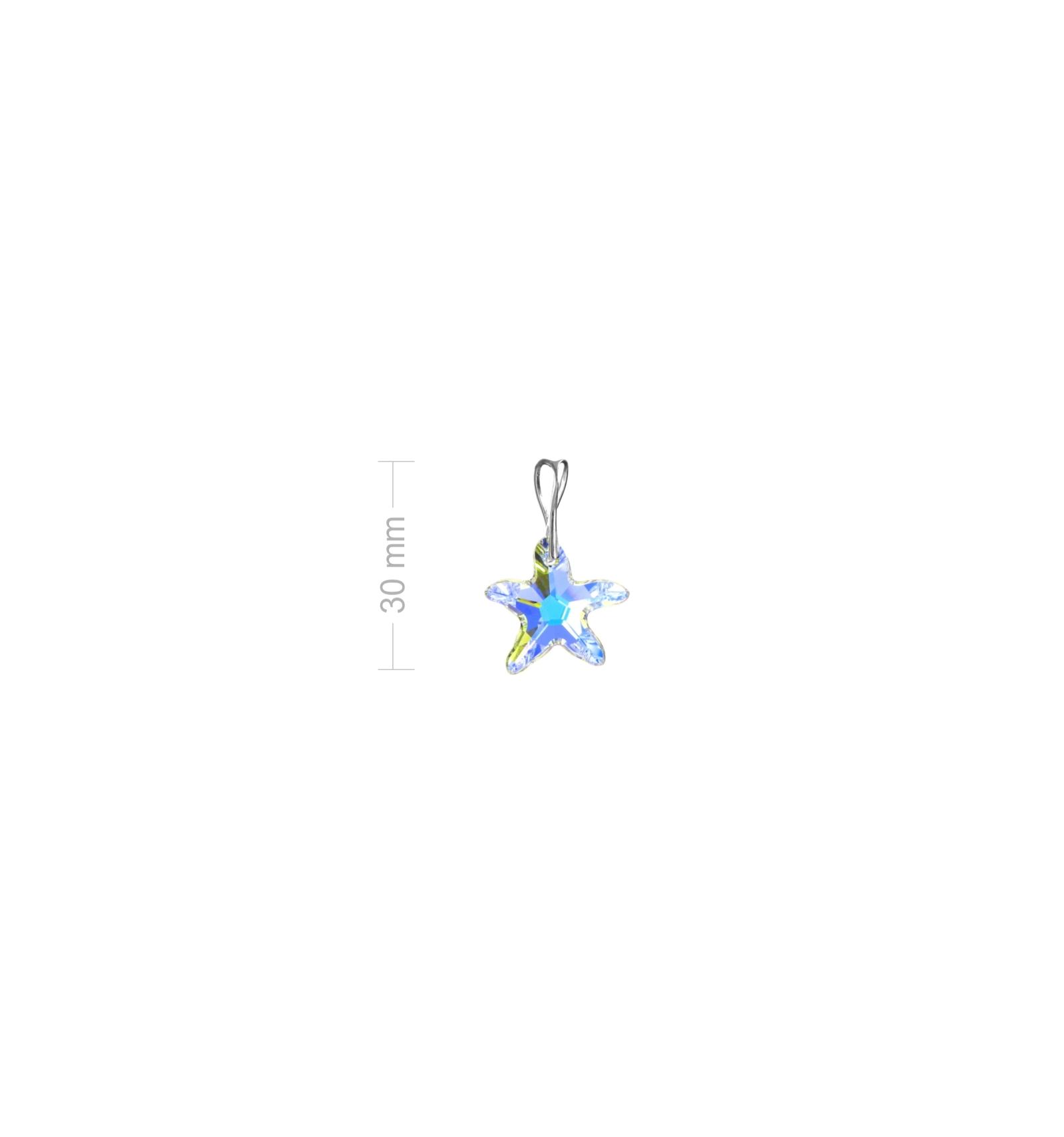 Strieborný prívesok so Swarovski elements AB hviezdica 20mm a6bdaee6959