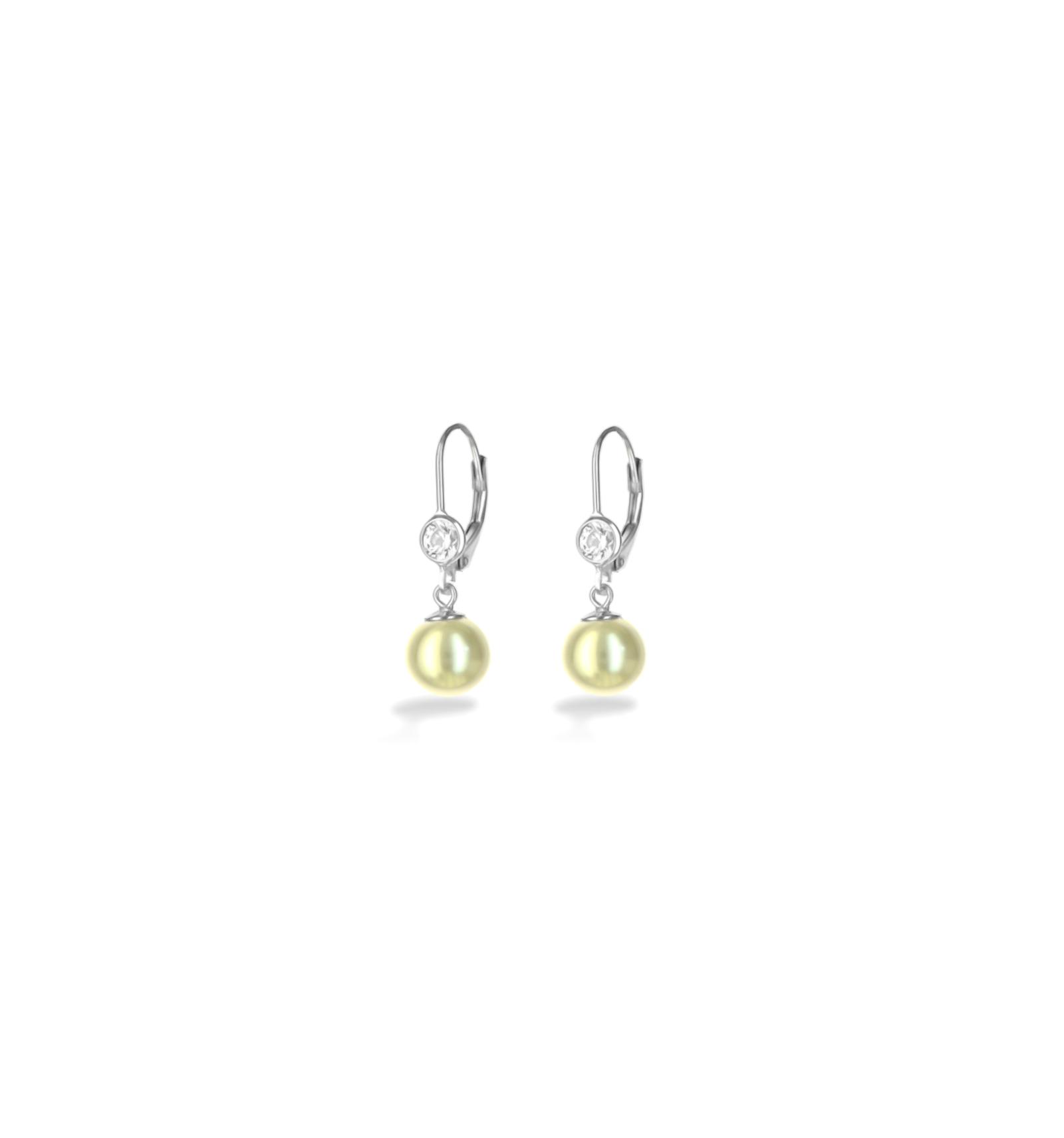 e24c6b768 Strieborné náušnice so Swarovski elements s perlou