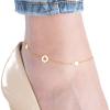 Strieborná pozlátená retiazka na nohu s príveskami hviezdičky 22 až 26cm