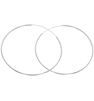 Strieborné náušnice kruhy 60mm