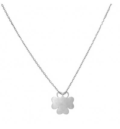 Strieborný náhrdelník štvorlístok 42 až 45cm