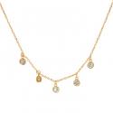 Strieborný pozlátený náhrdelník so zirkónmi 35 až 39cm