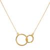 Strieborný pozlátený náhrdelník kruhy 42 až 45cm